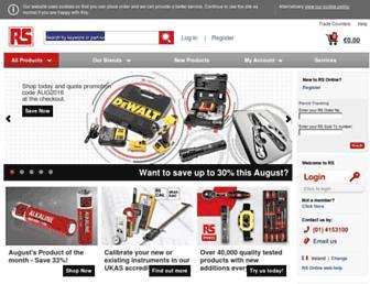 ie.rs-online.com screenshot