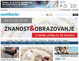 novilist.hr screenshot