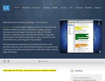 claritylegalllc.com screenshot