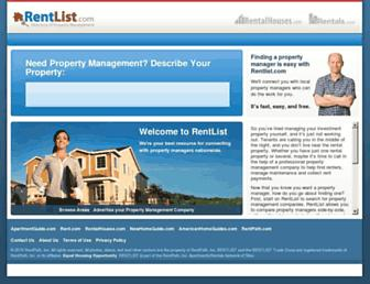Main page screenshot of rentlist.net