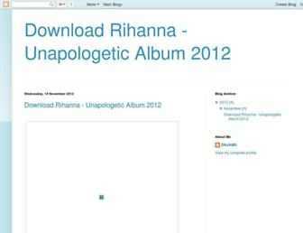 downloadrihannaunapologeticalbum.blogspot.com screenshot