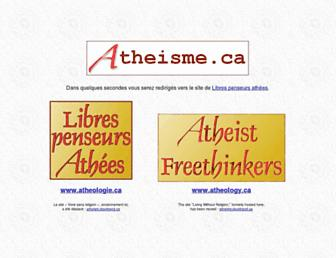 Main page screenshot of atheisme.ca