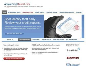 Thumbshot of Annualcreditreport.com
