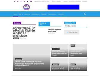 Main page screenshot of boainformacao.com.br