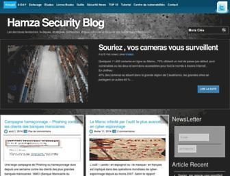 Main page screenshot of hamza.ma