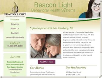 beaconlightbehavioralhealth.org screenshot