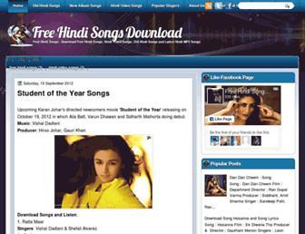 freehindisongdownloads.blogspot.com screenshot