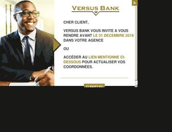 versusbank.ci screenshot
