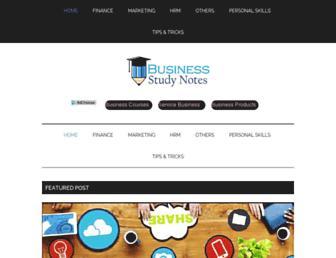 businessstudynotes.com screenshot