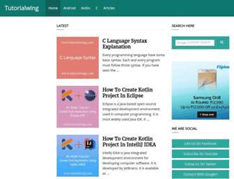 tutorialwing.com screenshot