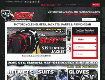sportbiketrackgear.com screenshot