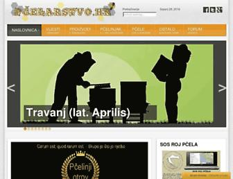 Main page screenshot of pcelarstvo.hr
