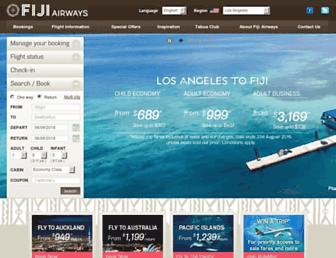 fijiairways.com screenshot