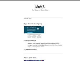 Main page screenshot of momb.socio-kybernetics.net