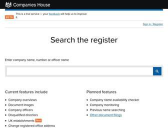 beta.companieshouse.gov.uk screenshot