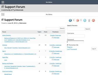 itsupportforum.net screenshot