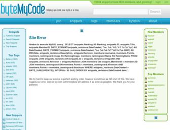 Thumbshot of Bytemycode.com