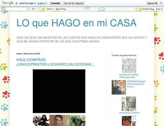 loquehagoenmicasa2012.blogspot.com screenshot