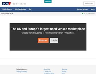 Main page screenshot of british-car-auctions.co.uk