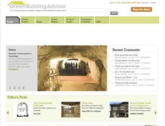 Thumbshot of Greenbuildingadvisor.com