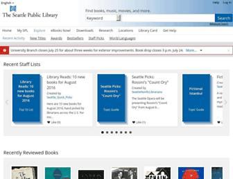 seattle.bibliocommons.com screenshot