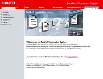 infosys.beckhoff.com screenshot