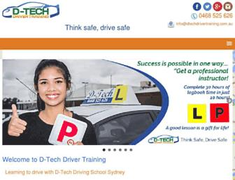 dtechdrivertraining.com.au screenshot