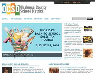 okaloosaschools.com screenshot