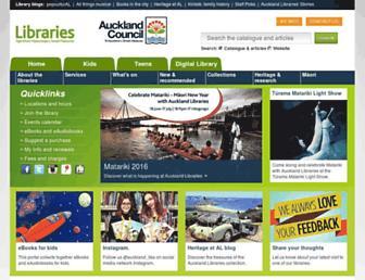 Thumbshot of Aucklandlibraries.govt.nz