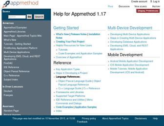 docwiki.appmethod.com screenshot