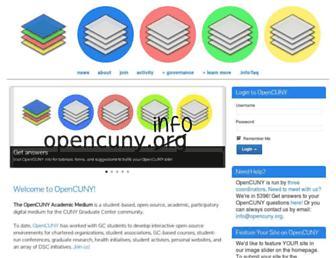 opencuny.org screenshot