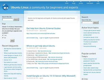Main page screenshot of ubuntux.org