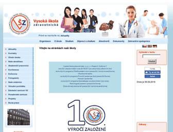 Main page screenshot of vszdrav.cz