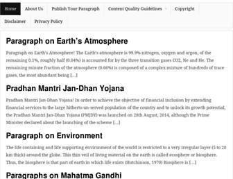 shortparagraph.com screenshot