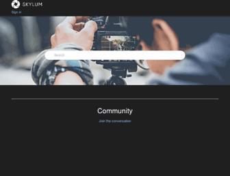community.skylum.com screenshot