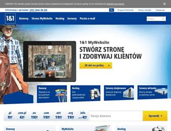 Main page screenshot of 1and1.pl