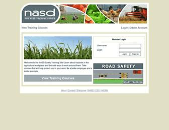 Main page screenshot of nasdtraining.org