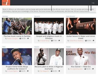 musicinafrica.net screenshot