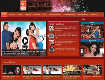 highlightsnepal.com screenshot