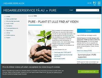 Main page screenshot of pure.au.dk