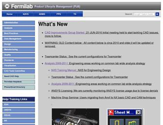 www-cad.fnal.gov screenshot