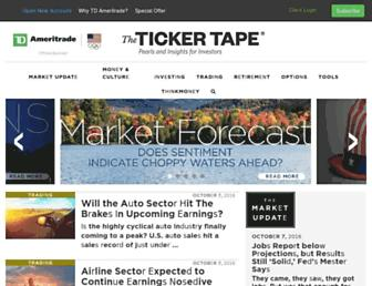tickertape.tdameritrade.com screenshot