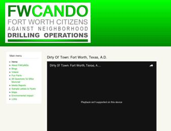 Main page screenshot of fwcando.org