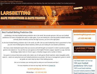 larsbetting.com screenshot
