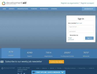 developmentaid.org screenshot