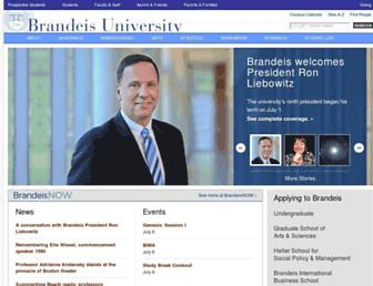 Main page screenshot of brandeis.edu