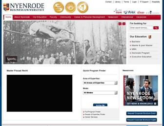Main page screenshot of nyenrode.nl