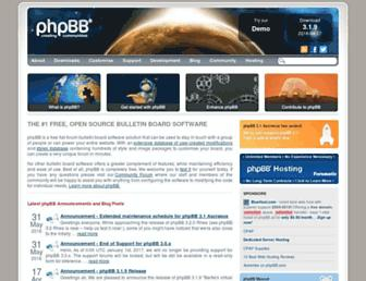 phpbb.com screenshot