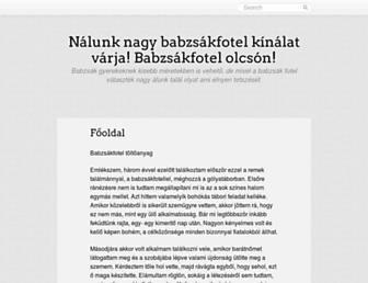 Main page screenshot of zarf.hu