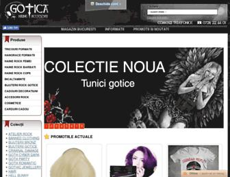 gotica.ro screenshot